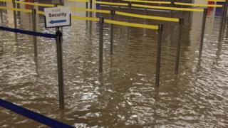 Flooding in Derry airport