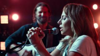 Lady Gaga with Bradley Cooper in A Star is Born