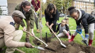 Tree planting event in Lambeth