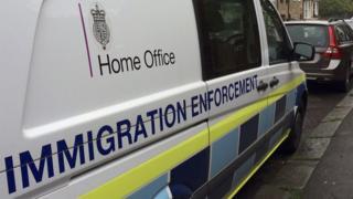 home office immigration enforcement van