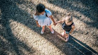 Girls in a playground