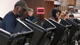 Voters cast their ballots during the 2016 general election in Winston-Salem, North Carolina.