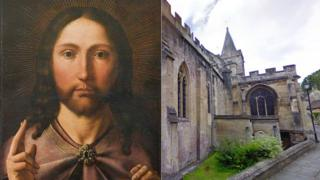 Quentin Metsys' Christ Blessing and Holy Trinity in Bradford on Avon
