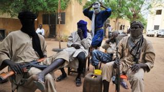 Des membres du mouvement pour l'unicité et le djihad en Afrique de l'Ouest à Gao (image d'illustration)