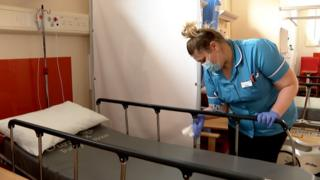 Cleaning at Ipswich Hospital