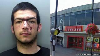 Caerphilly Iceland robbery