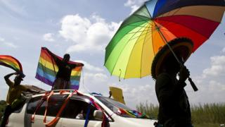 Gay rights march in Mozambique