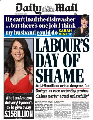 Wednesday's Daily Mail