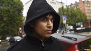 Navinder Sarao leaving Westminster Magistrates Court on 14 August