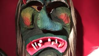 A mask at Kippel museum