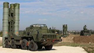 The S-400 surface-to-air missile system