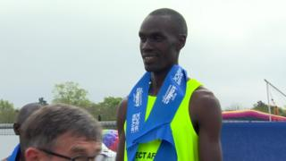 Eric Koech won the men's race in a time of 2:18:19