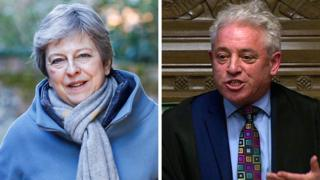 Composite picture of Theresa May and John Bercow