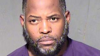 Abdul Malik Abdul Kareem also known as Decarus Thomas is pictured in this undated booking photo provided by the Maricopa County Sheriff's Office.