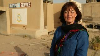 Jane Corbin at Basra airbase