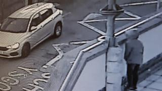 Image of Owain Thomas' silver Fiat Tippo captured on CCTV the Rhondda