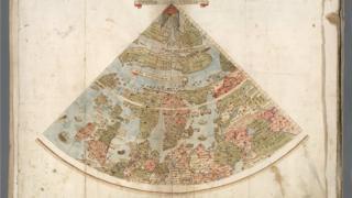 Así dibujó Monti el Norte de Europa. (Foto gentileza de David Rumsey Map Collection).