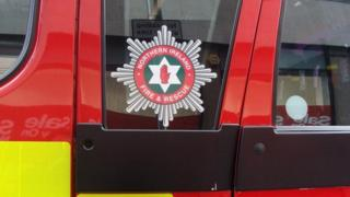 A fire fighter was injured when a car exploded outside a house in Westland Mews in the Bogside