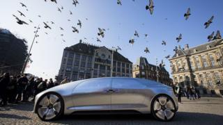 The Mercedes Benz F 015 self-driving car
