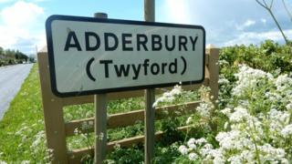 Adderbury sign