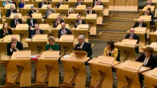 Brexit: MSPs vote to reject draft deal in Holyrood - BBC News