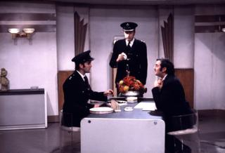 in_pictures John Cleese as Inspector Praline, Graham Chapman as Superintendent Parrot, and Terry Jones as Mr Milton in the Crunchy Frog sketch.