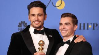 James Franco with brother Dave at the Golden Globes
