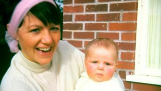 Bea Jones with Moira as a baby