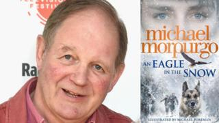 Michael Morpurgo and the cover of his book