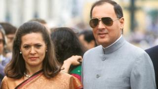 राजीव गांधी, सोनिया गांधी