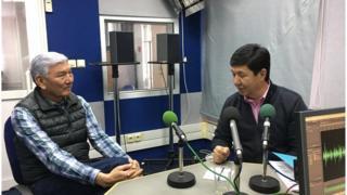 Темир Сариев жана Жогорку Кеңештин мурдагы депутаты Өмүрбек Абдырахманов