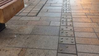 Braille paving stones in Hull