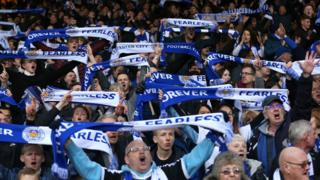 Leicester City fans at the King Power
