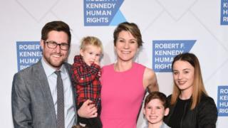Technology David McKean, Maeve Kennedy Townsend McKean and family attend the Robert F. Kennedy Human Rights Hosts 2019 Ripple Of Hope Gala & Auction In NYC on December 12, 2019 in New York City