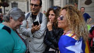 En Catalogne, le camp du maintien en Espagne veut se faire entendre ce dimanche.