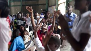 Aba Pentecote mu masengesho i Kampala muri Uganda