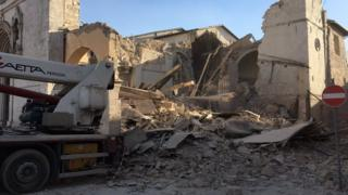 Basilica of St Benedict in Norcia destroyed