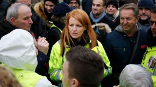 Ingrid Levavasseur at yellow vest rally in north-west France, 15 Jan 19