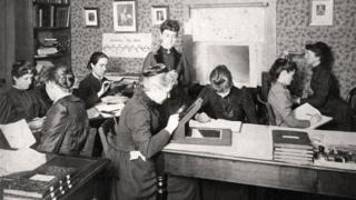 Las Computadoras de Harvard trabajando en el Observatorio en 1891