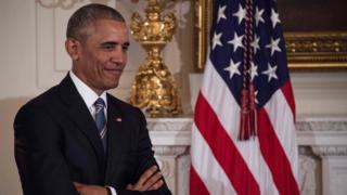 Barack Obama sonriendo