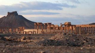 A picture purporting to show Palmyra in Syria provided by self-styled Islamic State, 1 December 2016