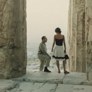 François Mitterrand con Anne Pingeot en la Acrópolis de Atenas en los 70 del siglo pasado.
