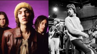 The Verve (left) and The Rolling Stones (right)