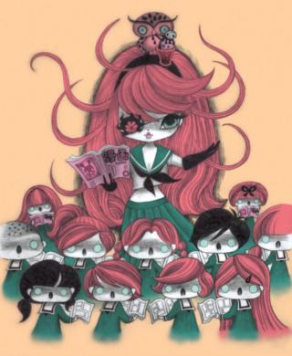 Comic Cue cover by Junko Mizuno