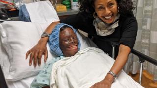 Menbe Aklilu and Atsede in hospital