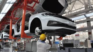 Abakozi b'uruganda Volkswagen mu Bushinwa