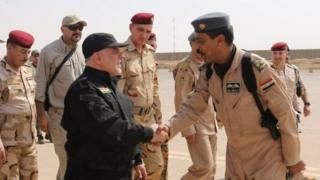 Haider al-Abadi alitembelea mji huo baada ya mapigano kumalizika