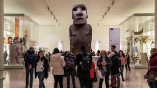 Şili'nin Paskalya Adası'na ait Hoa Hakananai'a heykeli