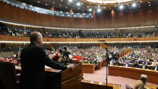 ترکی کے صدر رجب طیب اردوغان کا پاکستان کی پارلیان سے خطاب