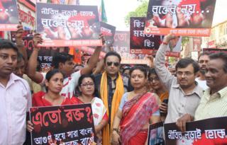 बंगाल में विपक्ष का विरोध प्रदर्शन